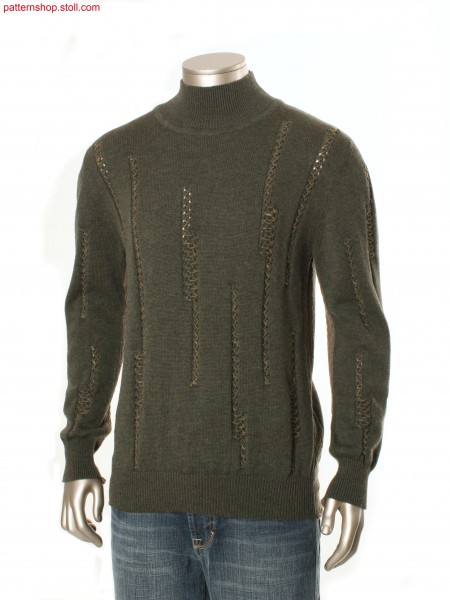 Fully Fashion pullover in jersey structure / Fully FashionPullover in Rechts-Links Struktur