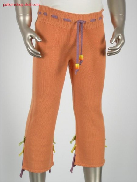 Children's trousers with wave-like applications / Kinderhosemit wellenartigen Applikationen