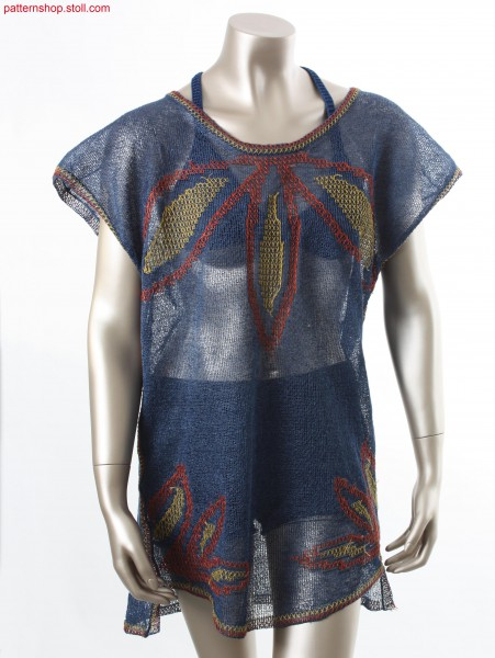 Fully Fashion tunic in 1x1 jersey crepe structure / Fully Fashion Tunika in 1x1 Rechts-Links Krepp-Struktur