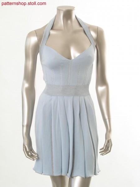 Fully Fashion halter-neck dress with ornamental stitches /Fully Fashion Neckholder-Kleid mit Zierstichen