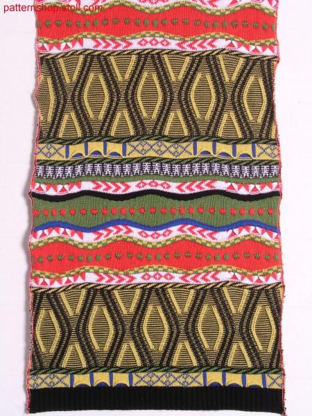Split-Aran pattern with 2-colour jacquard / Split-Aranmuster mit 2-farbigem Jacquard