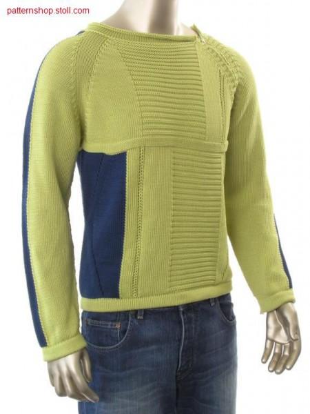 Intarsia raglan pullover / Intarsia Raglanpullover