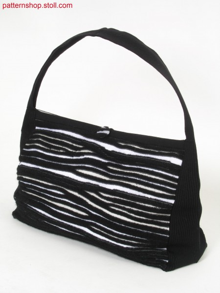 Shoulder bag with gored jersey-plush stripes / Umh