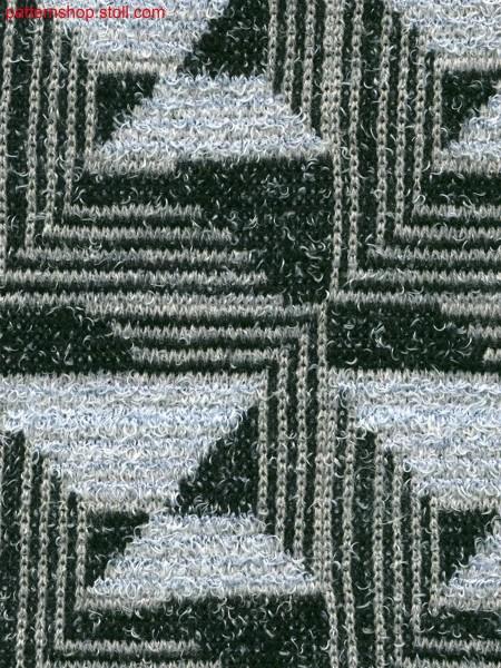 3-colored stripe jacquard