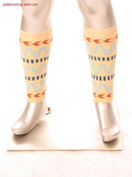 Leg warmers in 2-colour float jacquard / Beinstulpen in 2-farbigem Flottjacqard