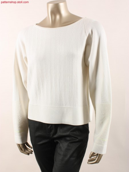 Fully Fashion Pullover with  inverse plated jersey / FullyFashion Pullover mit wendeplattiertem Rechts-Links