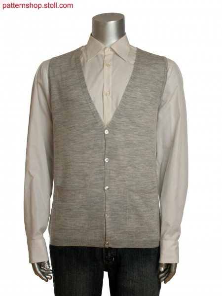 Fully Fashion men's vest with integrated pockets and pointelle detail on pocket