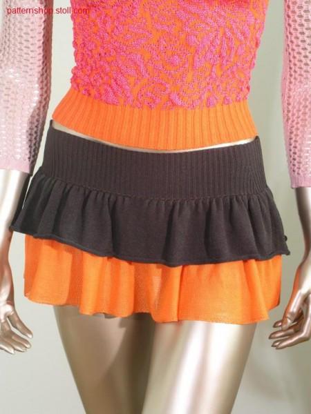 2 - Colour, 2 - layers mini skirt / 2 - Farbiger, 2 - lagigerMinirock.