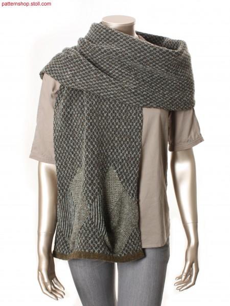 4-coloured jacquard scarf / 4-farbiger Jacquard Schal