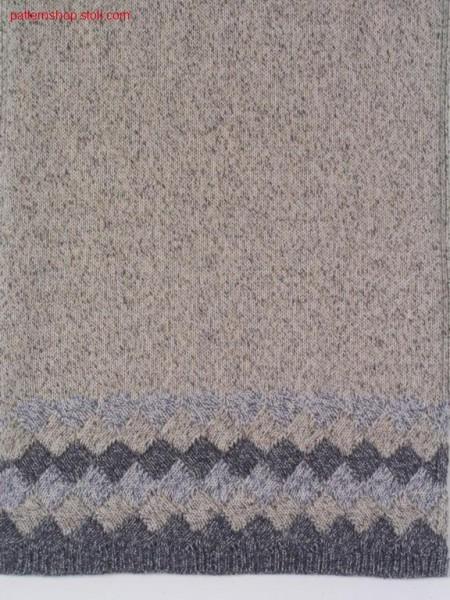3-colour borders in gore technique / 3-farbiges Bord