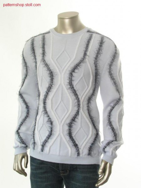 Fully Fashion pullover with saddle shoulder / Fully Fashion Pullover mit Sattelschulter