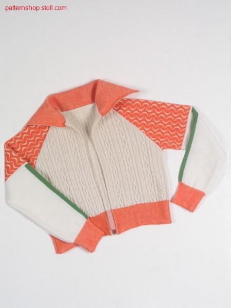 FF-jacquard-intarsia children's raglan cardigan / FF-Jacquard-Intarsia Kinder Raglanstrickjacke