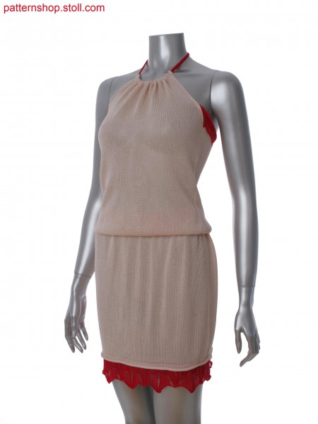 Fully Fashion halter neck dress with 2-layer technique