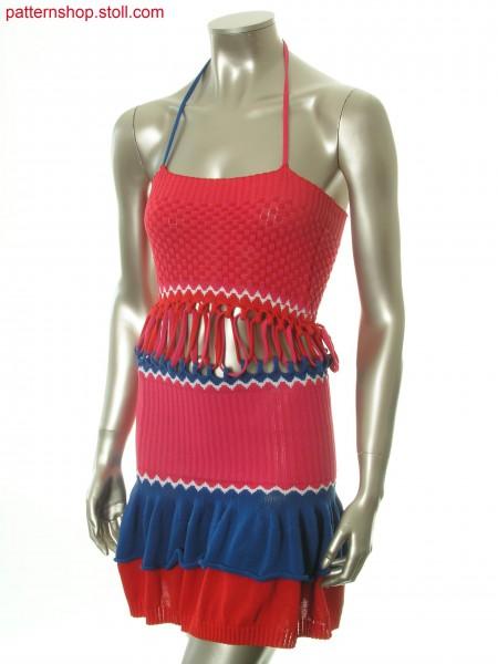 Halter-neck dress with separate frilled skirt and breast part / Neckholder-Kleid mit separatem R