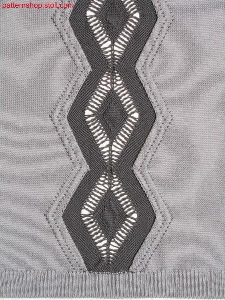 Intarsia pattern with concealed intarsia edges / Intarsiamuster mit verdeckten Intarsiakanten
