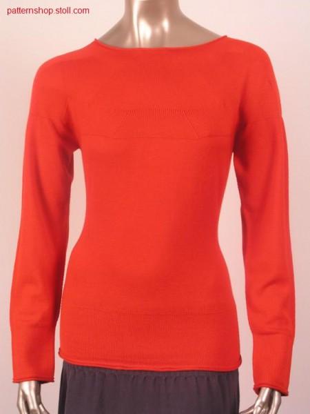 Tailored pullover in Fair Isle optic / Taillierter Pullover in Fair Isle Optik