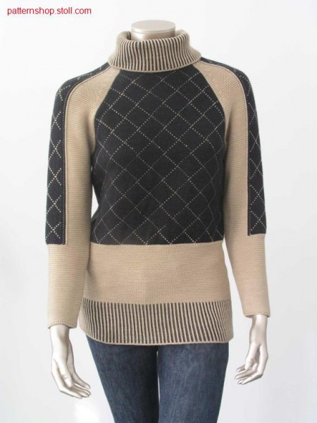 Fully Fashion front with 1x1 tuck stitch rib start / FullyFashion Vorderteil mit 1x1 Fangrippen-Anfang