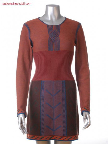 Fully Fashion-Intarsia dress with jacquard bordure / Fully Fashion-Intarsia Kleid mit Jacquardbord