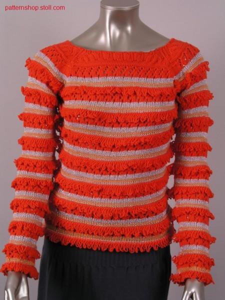 FF-raglan pullover with pointelle structure / FF-Raglanpullover mit Petinet