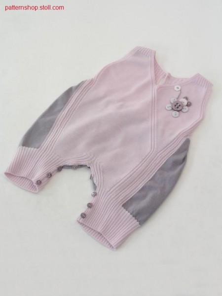Sleeveless FF-Intarsia romper suit /