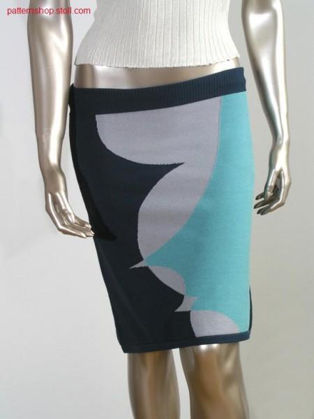 FF-Intarsia jersey skirt / FF-Intarsia Rechts-Links Rock