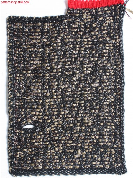 Swatch in tweed-like 3-colour float jacquard / Musterausschnitt in tweed