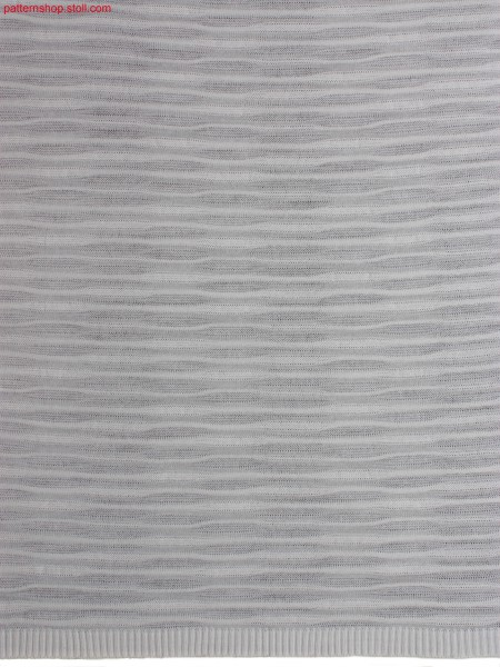 Self-coloured striped structured jersey fabric / Uni-geringeltes, strukturiertes Rechts-Links Gestrick