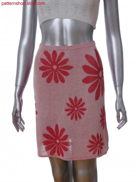 Fully Fashion skirt in 2-color plating with single jersey