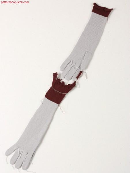 Gloves knitted in jersey / Handschuh in R-L gestrickt.
