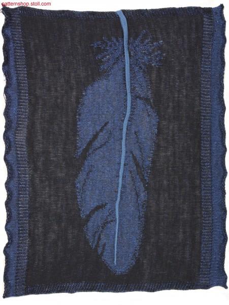 Swatch with Inverse Plated feather motif / Musterausschnitt mit wendeplattiertem Federmotiv
