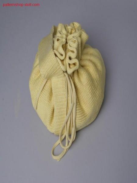 Jersey handbag in gore technique / Rechts-Links Handtasche in Spickeltechnik
