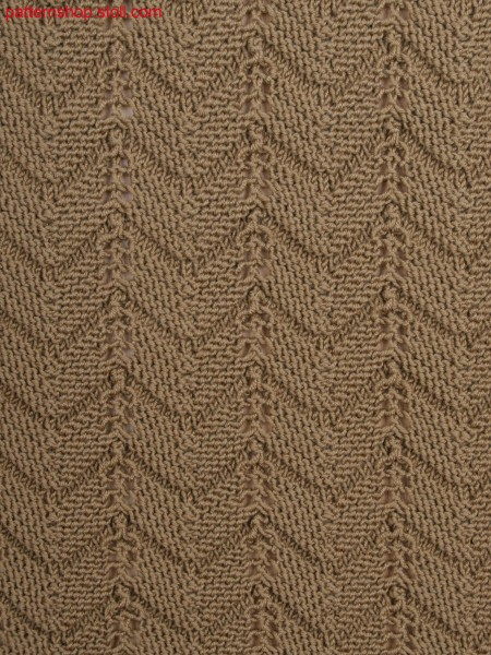 purl structure with pointelle