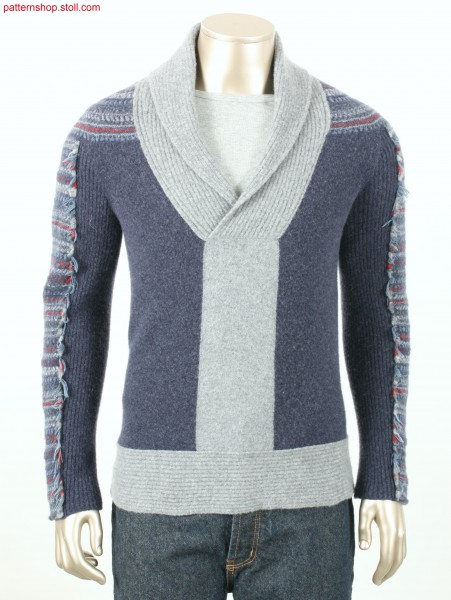 Felt-like Fully Fashion-Intarsia pullover / Filzartiger Fully Fashion-Intarsia Pullover