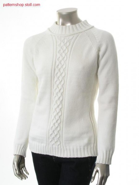 Fitted jersey raglan pullover with 2x2 cables / Taillierter Rechts-Links Raglanpullover mit 2x2 Z