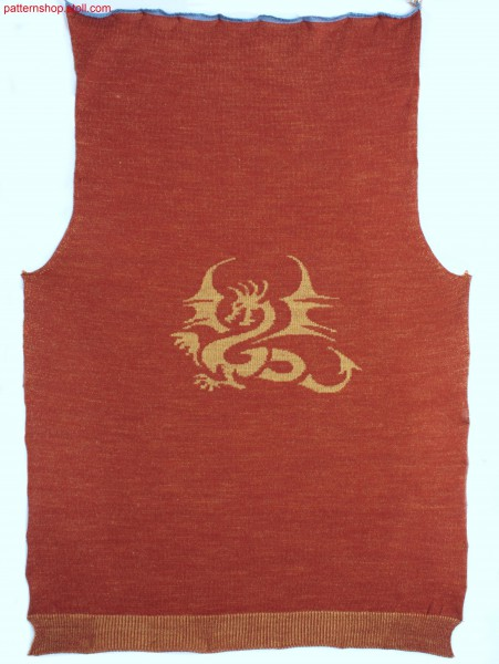 Fully Fashion front with inverse plated dragon motif / Fully Fashion Vorderteil mit wendeplattiertem Drachen-Motiv