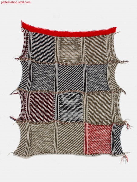 Swatch with woven-like equal twill / Musterausschnitt mit web