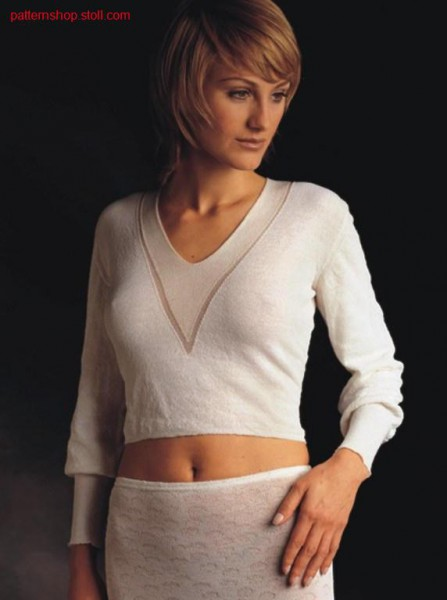 FF-Intarsia pullover in tubular / FF-Intarsia Pullover in Schlauch