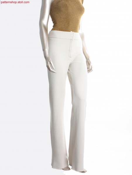 Fully Fashion trousers in jacquard structure / Fully Fashion Hose in Jacquardstruktur