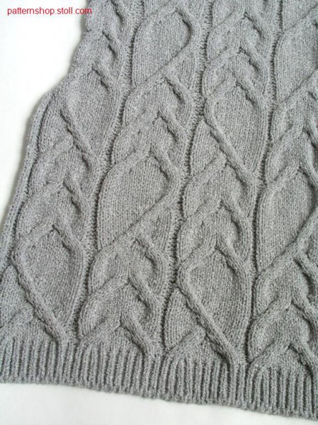Fully Fashion front piece with cable pattern / Fully FashionVorderteil Zopfflechtmuster