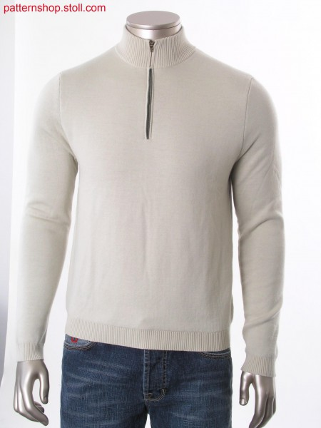 Fully Fashion pullover with high collar, half zipper placketand layer technique with tuck connection by lycra.