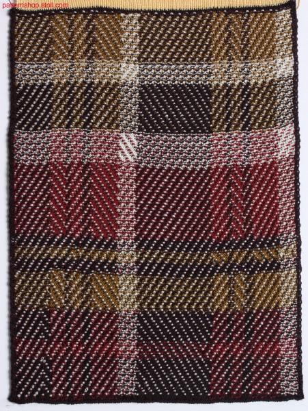 Swatch with woven-like tartan pattern / Musterausschnitt mit web