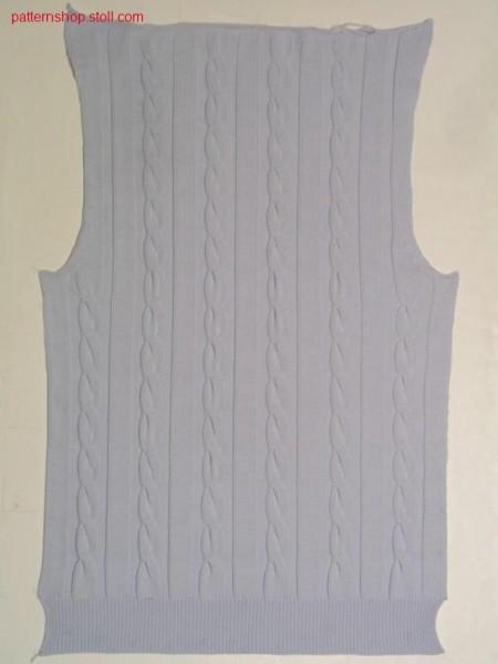 FF-front with 2x6 cables in true gauge stitch optik / FF-Vorderteil mit 2x6 Z
