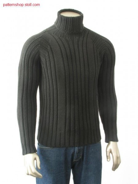 Sweater with 2x2 rib / Pullover mit 2x2 Rippe