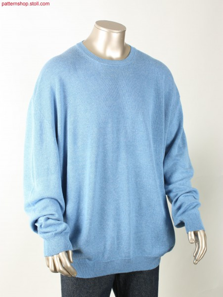 Oversized jersey pullover with French shoulder /