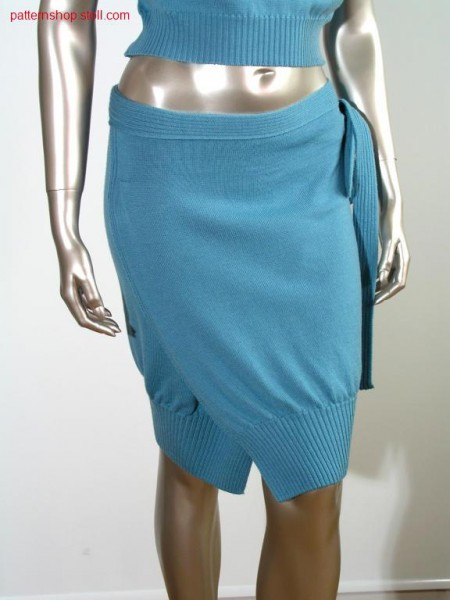 Fully fashion jersey wrap skirt with pleat at the side / Fully Fashion Rechts-Links Wickelrock mit seitlicher Falte