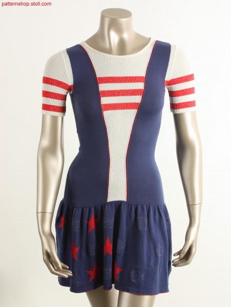 Fully Fashion Intarsia cheerleader dress / Fully Fashion Intarsia Cheerleader Kleid