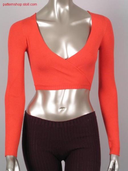 Short jersey overlap pullover / Kurzer Recht-Links Pullover mit
