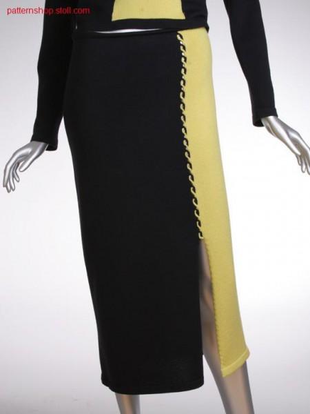 Fully fashion skirt with 2-colour intarsia cable / Fully Fashion Rock mit 2-farbigem Intarsiazopf