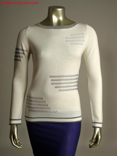 Fully Fashion pullover with cross stitch