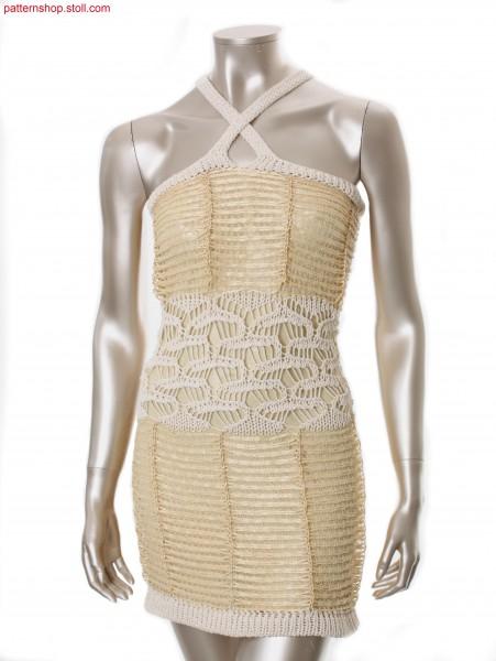 Fully Fashion-intarsia halter-neck bast dress / Fully Fashion-Intarsia Neckholder-Bastkleid